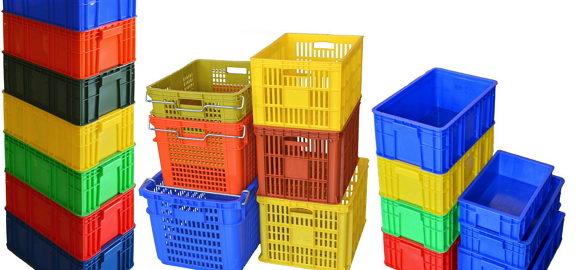 塑膠箱 搬運箱 儲運箱 工具箱 果菜籃 鐵柄籃